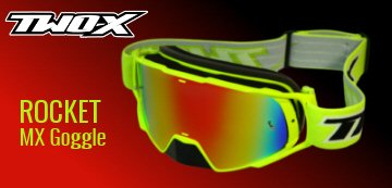 TWO-X Motocross Brille neon gelb