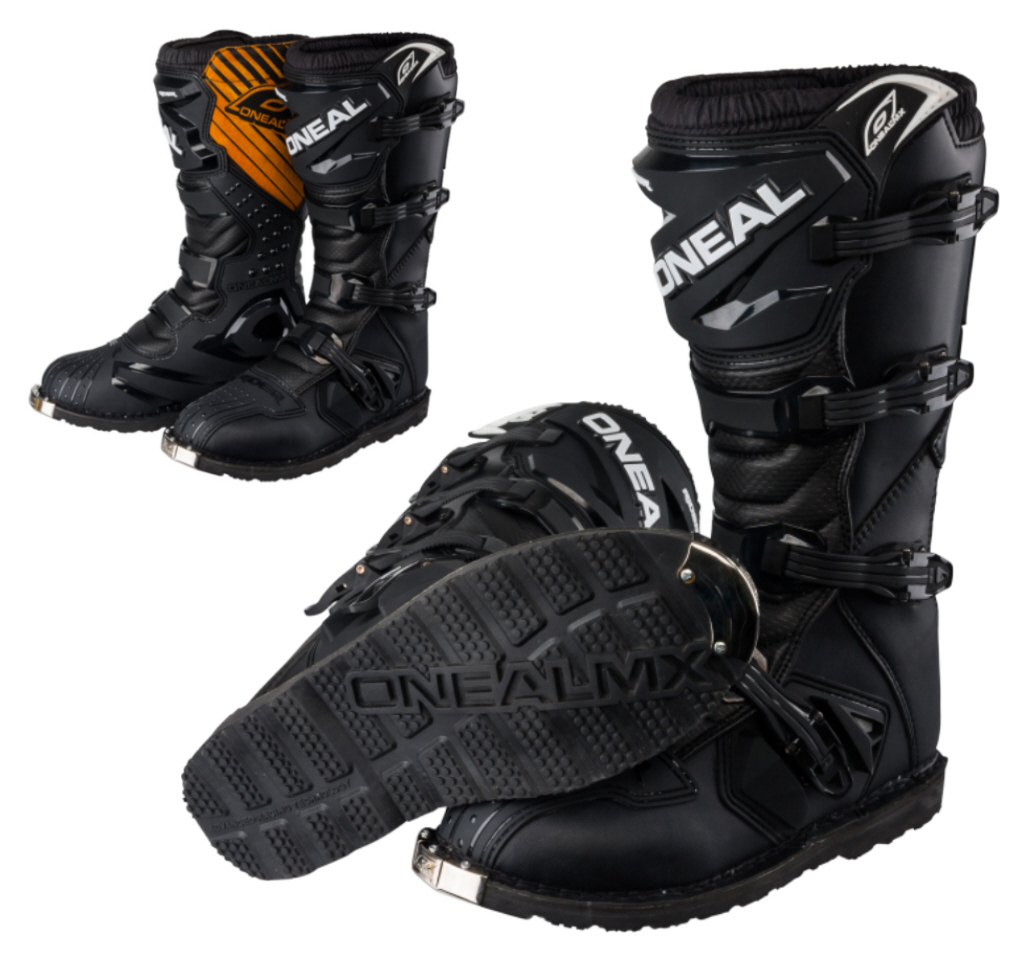 oneal cavalier bottes de motocross noir mx enduro d marrage gr ue 43 10 u s ebay. Black Bedroom Furniture Sets. Home Design Ideas