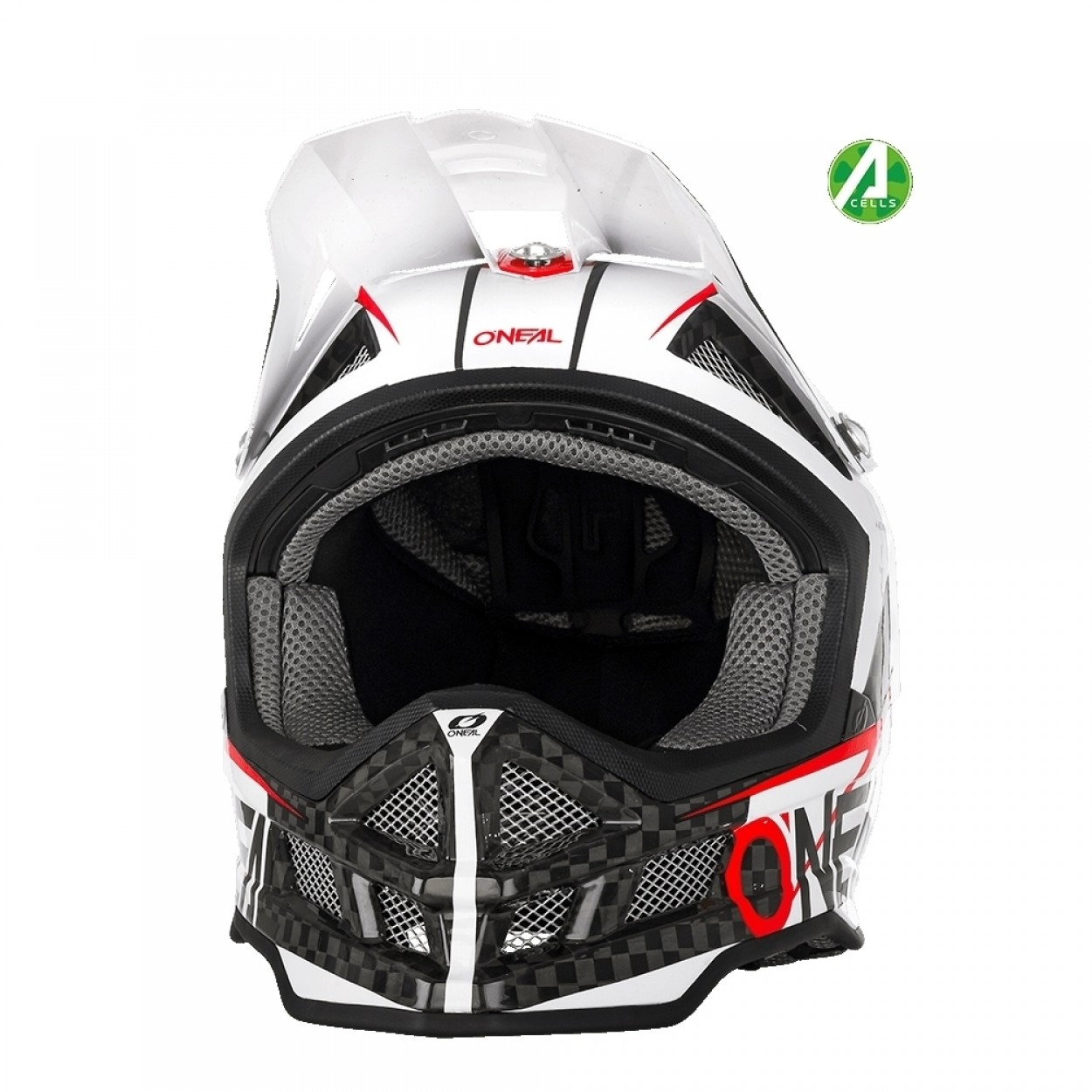 oneal blade carbon ipx downhill helm weiss mit two x. Black Bedroom Furniture Sets. Home Design Ideas