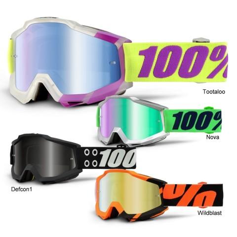 100% Crossbrille Accuri verspiegelt S16 in Schwarz, Orange, Silber, Weiß, Lila, Grün