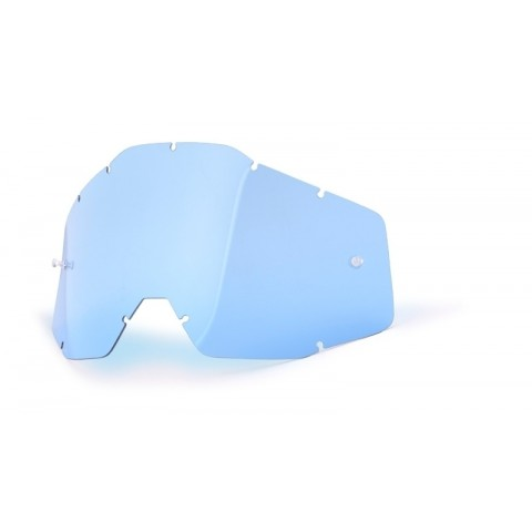 100% Ersatzglas blau getönt