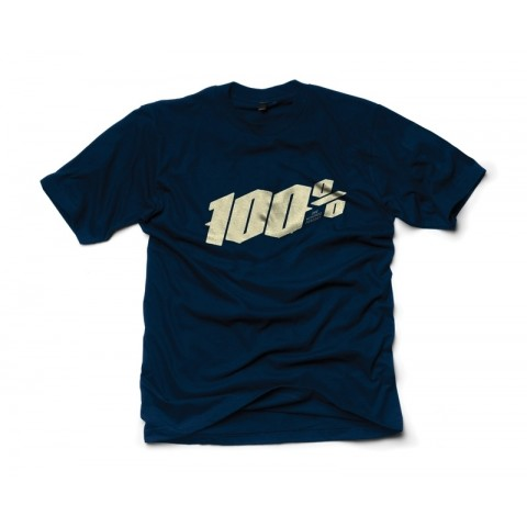 100% T-Shirt Blackletter blau