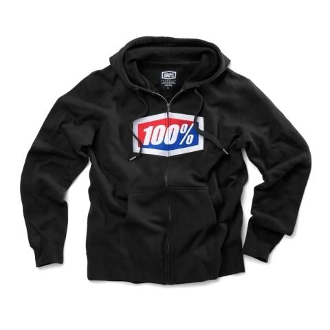 100% Zip Hoody Official schwarz