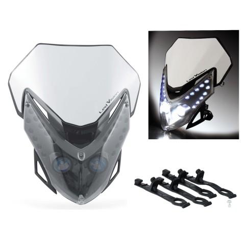Acerbis LED Vision Lampenmaske inkl. Scheinwerfer schwarz