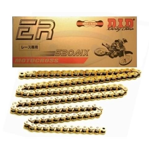 Motoradkette von DID gold Motocross Kette, Enduro Kette, 520er Cross Kette, Offroad Kette