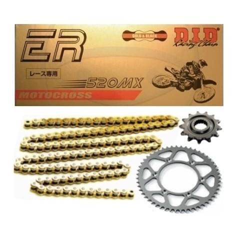 Kettensatz von DID gold Motocross Kettensatz, Enduro Kettenkit, 520er Kettensatz, MX Kit