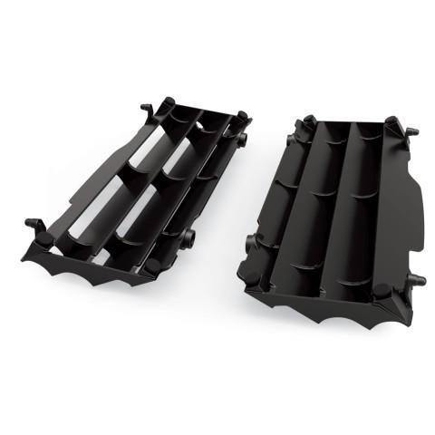 Kühlerschutzlamellen Paar schwarz für Kawasaki