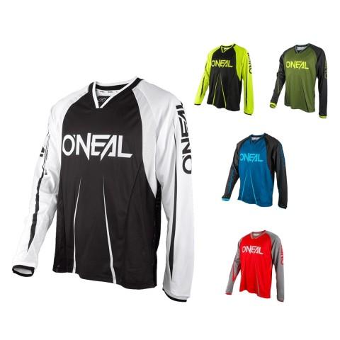 Oneal Element FR Long Sleeve Jersey Blocker in Schwarz, Weiss, Neongelb, Grün, Blau, Rot