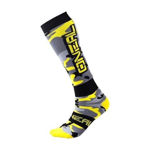 Oneal Pro MX Socken Hunter schwarz grau neon gelb