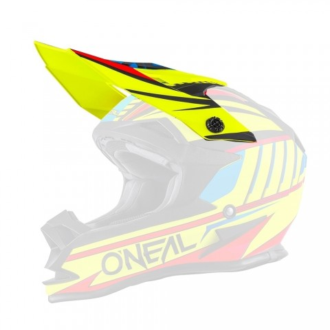 Oneal Spare Visor 7Series Crosshelm Evo CHASER neon gelb