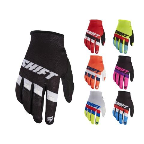 Shift Whit3 Air Handschuhe 17 in Schwarz, Weiss, Rot, Neongelb, Gelb, Orange, Rosa, Blau