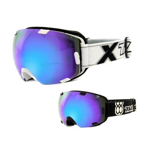 TWO-X AIR Skibrille blue Ice verspiegelt in Schwarz, Weiß