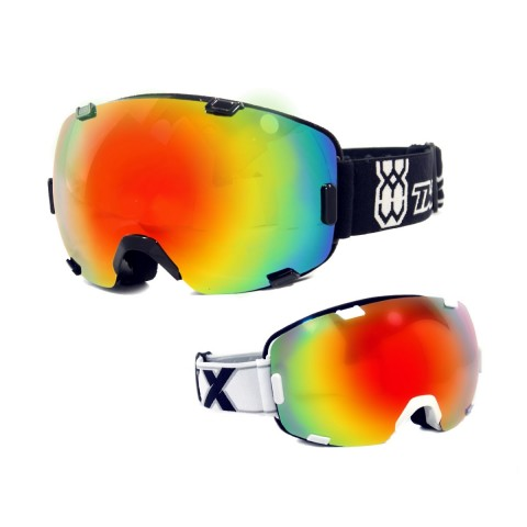 TWO-X AIR Skibrille iridium verspiegelt in Schwarz, Weiß, Orange