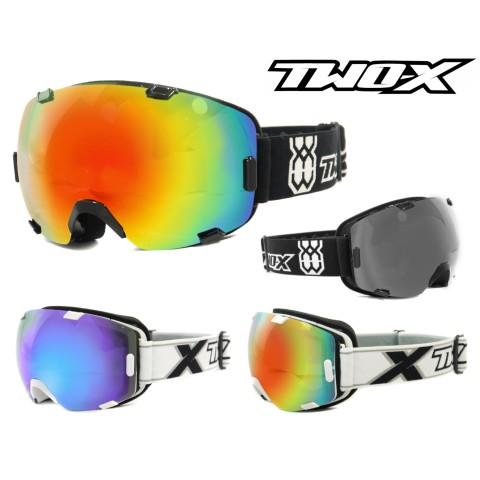 TWO-X AIR Skibrille verspiegelt iridium in Schwarz, Weiss, Rot, Blau