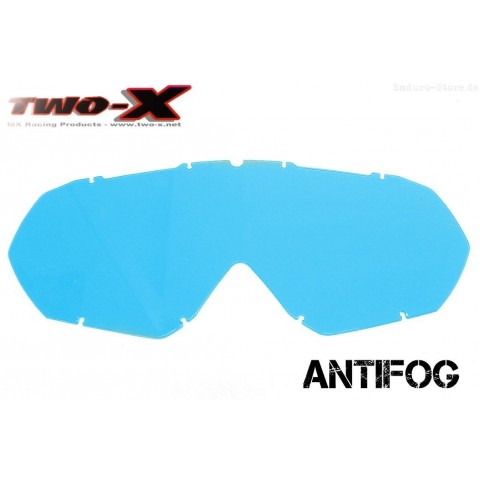TWO-X Race CC Ersatzglas antifog blau