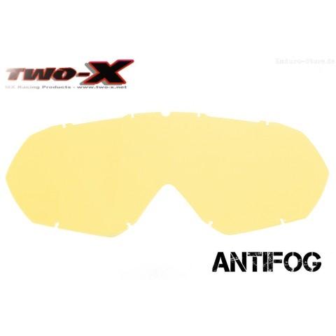 TWO-X Race CC Ersatzglas antifog gelb