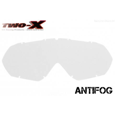 TWO-X Race CC Ersatzglas antifog klar
