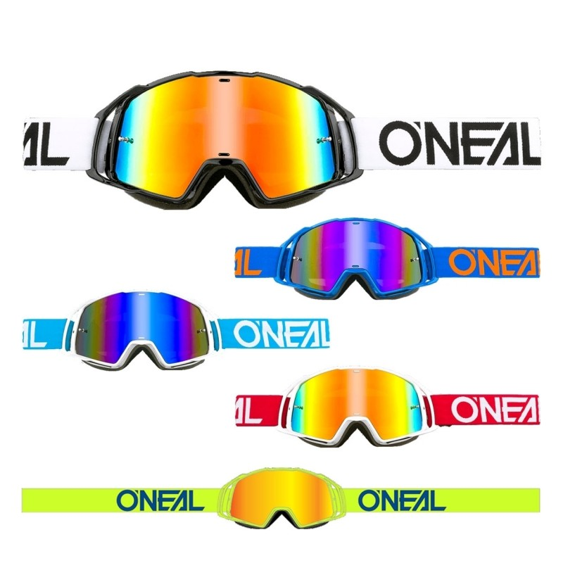 Oneal B20 Flat Goggle MX DH Brille schwarzklar Oneal