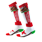 Oneal Pro MX California Socken rot weiss braun