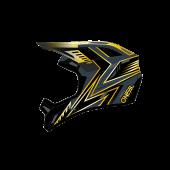 Oneal Backflip Knox Ersatzschirm schwarz gelb