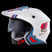 Oneal Volt MN1 Ersatz Helmschirm weiss rot blau