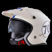 Oneal Volt Herbie Ersatz Helmschirm weiss rot blau
