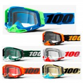 100% Racecraft 2 Graphic Crossbrille clear