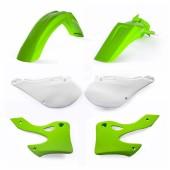 Acerbis Plastiksatz Kit für Kawasaki grün weiss