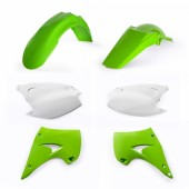 Acerbis Plastiksatz Kit für Kawasaki KX 125/250 03-08 weiss