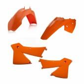 Acerbis Plastiksatz Kit für KTM EXC 27/4T 03-04 orange