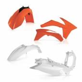 Acerbis Plastiksatz Kit für KTM SX/SX-F 2011 orange weiss