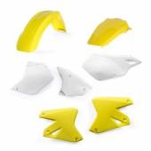 Acerbis Plastiksatz Kit für Suzuki & Kawasaki weiss