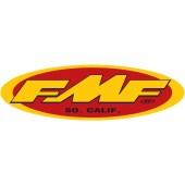FMF Aufkleber rot gelb oval