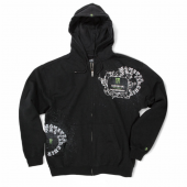 Pro Circuit Grunge Zip Hoody Monster schwarz grün Gr. L