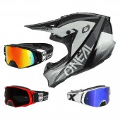 Oneal 10Series Core Crosshelm grau mit TWO-X Rocket Crossbrille
