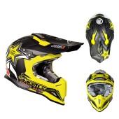 Just1 J12 Rockstar 2.0 Crosshelm schwarz gelb