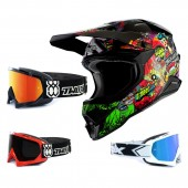 Oneal 3Series Crosshelm Crank 2.0 schwarz rot mit TWO-X Race Brille