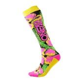 Oneal Pro MX Socken Island pink grün gelb
