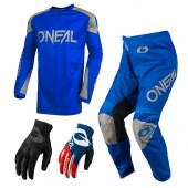 Oneal Matrix Ridewear Combo 21 blau Crosshose Jersey Handschuhe