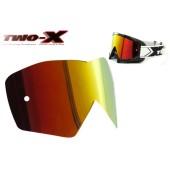 TWO-X Race Spiegelglas rot gelb