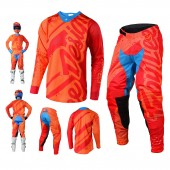 Troy Lee Designs SE Air Shadow Combo Jersey Crosshose orange rot