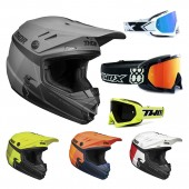 Thor Sector Kinder Crosshelm Racer Helmcombo inkl. TWO-X Race Crossbrille