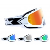 TWO-X Race Crossbrille verspiegelt Solid weiss