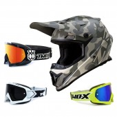 Z1R Rise Crosshelm Camo grau mit TWO-X Race Brille