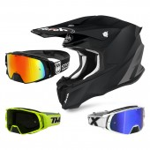 Airoh Twist 2.0 Color Crosshelm schwarz mit TWO-X Rocket Crossbrille