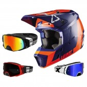 Leatt GPX 3.5 Crosshelm orange blau mit TWO-X Rocket Crossbrille