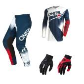 Oneal Element Racewear Combo blau rot Jersey Crosshose