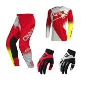 Oneal Element Racewear Combo rot weiss Jersey Crosshose