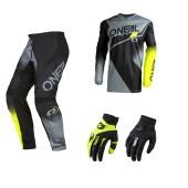 Oneal Element Racewear Combo schwarz neon Jersey Crosshose