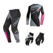 Oneal Element Girls Combo schwarz pink Jersey Crosshose